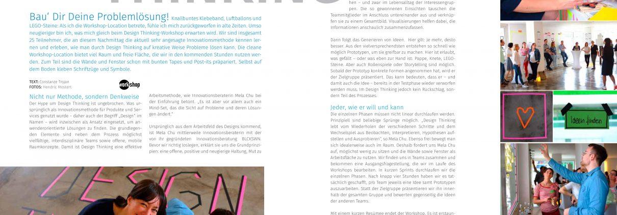 Artikel Design Thinking Mela Chu BLCKSWN Innovationsberatung bei Marketingclub Stuttgart